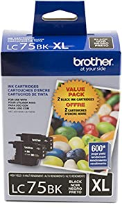 Brother Printer LC752PKS 2 Pack of Cartridges Ink - Retail Packaging from Brother