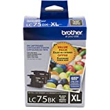 Brother LC752PKS Genuine Black Ink Cartridge,2-Pack