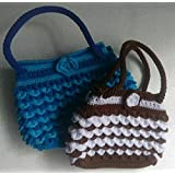 White, coffee and blue, light blue color with hand-woven bag 1 + 1