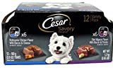 Cesar Wet Dog Food Variety Pack Savory Delights Rotisserie Chicken/Filet Mignon – 12 CT For Sale