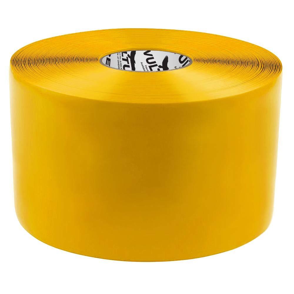 Yellow, Vulture Floor Tape Floor Marking Tape, 6'' Roll, 1 EA, 45VR95