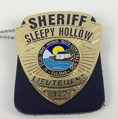 Sleepy Hollow Lieutenant Sheriff Television Show Badge