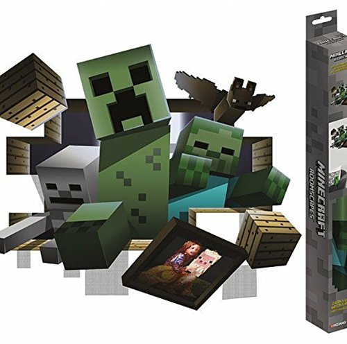 dfa036c289 mojang Jinx Minecraft- 3D Wall Decal Poster- Creeper