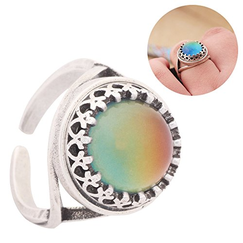 Mood Ring Adjustable in Antiqu