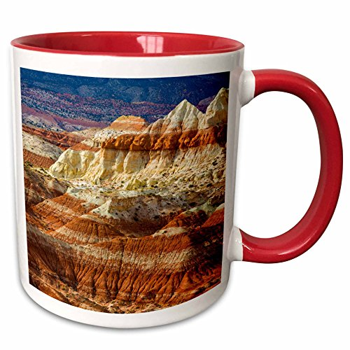 3dRose Danita Delimont - Mountain - Arizona. A desert area called Toad Stools. - 15oz Two-Tone Red Mug (mug_229539_10)