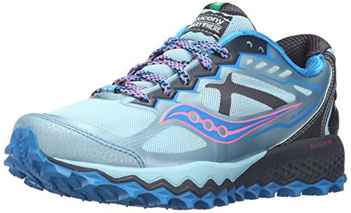 Saucony Women's Peregrine 6 Trail Running Shoe Sky/Blue/Pink