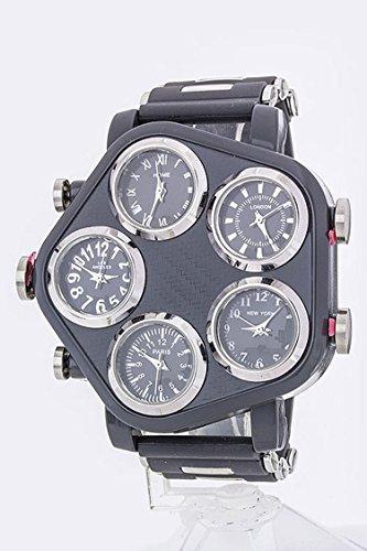 Trendy Fashion Jewelry 5 Time Zone Jelly Watch By Fashion Destination | - Wholesale Fashion Trendy
