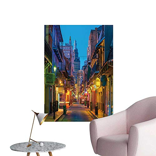 - SeptSonne Wall Painting Pubs Bars neon Lights in The French Quarter New Orle s USA High-Definition Design,32