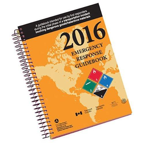 "Labelmaster ERG0025 White Paper 2016 Emergency Response Guidebook, 0.300"" Height, 12"" Width, Spiral Bound Pocket Size"