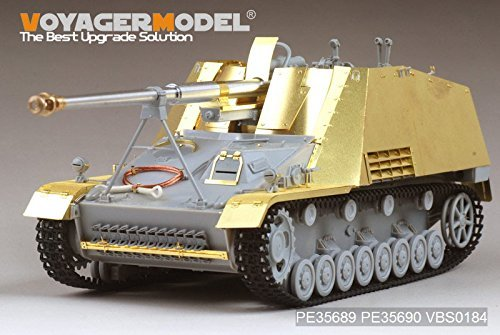 WWII German Sd.Kfz. 164 nurse Horn armor plate / fender Dragon 6387 kit corresponding [PE35690] WWII German Sd.Kfz.164 Nashorn Amour Plate / Fenders (For DRAGON 6387/6165/6166/6314)