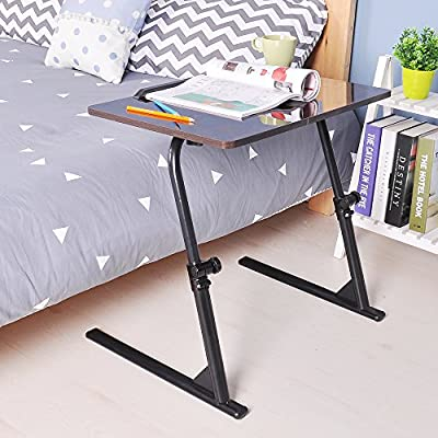 Soges Adjustable Lap Table Portable Laptop Computer Stand Desk Cart Tray, Black S1-2H