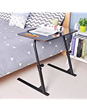 DlandHome Adjustable 31.5 Laptop Bed Table,Portable Standing Desk,Foldable Sofa Breakfast Tray