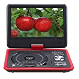 Portable 7.8 Inch NS-788 LCD screen car EVD DVD video player USB SD GAME, Red