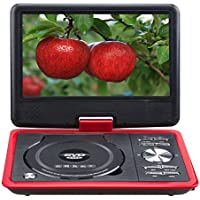 Portable 9.8 Inch NS-988 LCD screen car EVD DVD video player USB SD GAME,Red