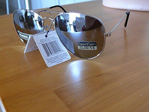 soleil polarisés sport polarisées effet aviator polarisantes argent monture aviateur miroir homme femme verres 8AF101 lunettes miroir de verres vp4cq115