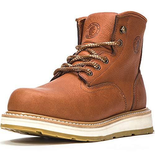 ROCKROOSTER Work Boots for Men, Soft Toe, 6
