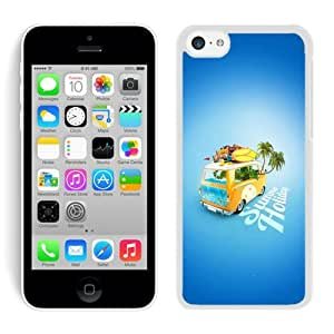iPhone 5C Case,2015 Hot New Fashion Stylish Summer Holiday White Case Cover for iPhone 5C