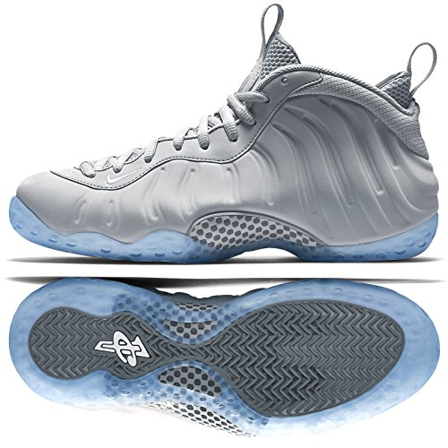 finest selection b2863 1ed0d NIKE Air Foamposite One Premium 575420-007 Wolf Grey/Cool Grey Men's  Basketball Shoes (Size 9)
