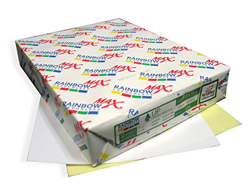 Carbonless Laser Paper - 250 Sets, NCR Paper, Collated 2 Part (White, Canary), Letter Size Carbonless Paper - Rainbow Brand
