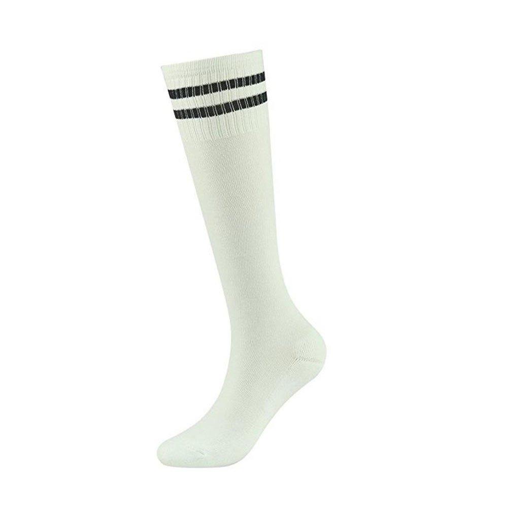 Popular choice for School,and Sports Women Demarkt Unisex Knee High Striped Sports Football//Soccer//Hockey Tube Socks for Men Boys Girls