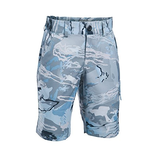 Under Armour Boys' Shark Bait Cargo Shorts, Ridge Reaper Camo Hy/Stealth Gray, Youth Large by Under Armour