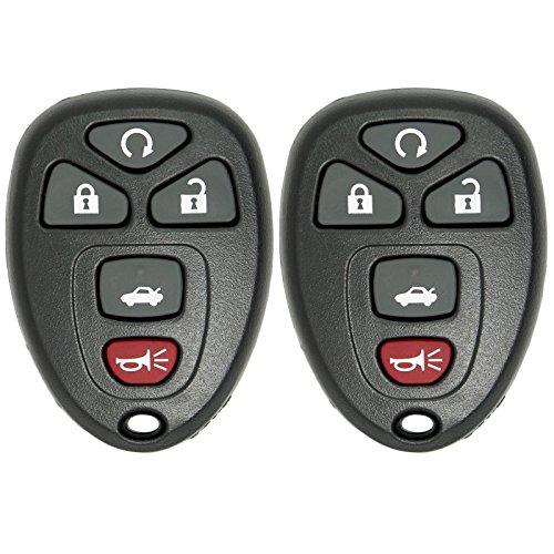 Keyless2Go 2 New Replacement Keyless Entry Remote Start Car Key Fob for 22733524 KOBGT04A Malibu Cobalt G5 G6 Grand Prix Lacrosse Allure