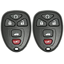 2 New Keyless Entry 5 Button Remote Start Car Key Fobs for Select GM Chevrolet Buick Pontiac and Saturn