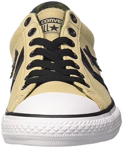 Converse Star Player OX Vintage Khaki/White/Black, Zapatillas Unisex Niños Beige (Vintage Khaki/White/Black)