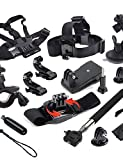 Defery-12-in-1 Outdoor Sports Essentials Kit for GoPro Hero4S 4 3+ 3 2 with Black Color Floating Handle Grip