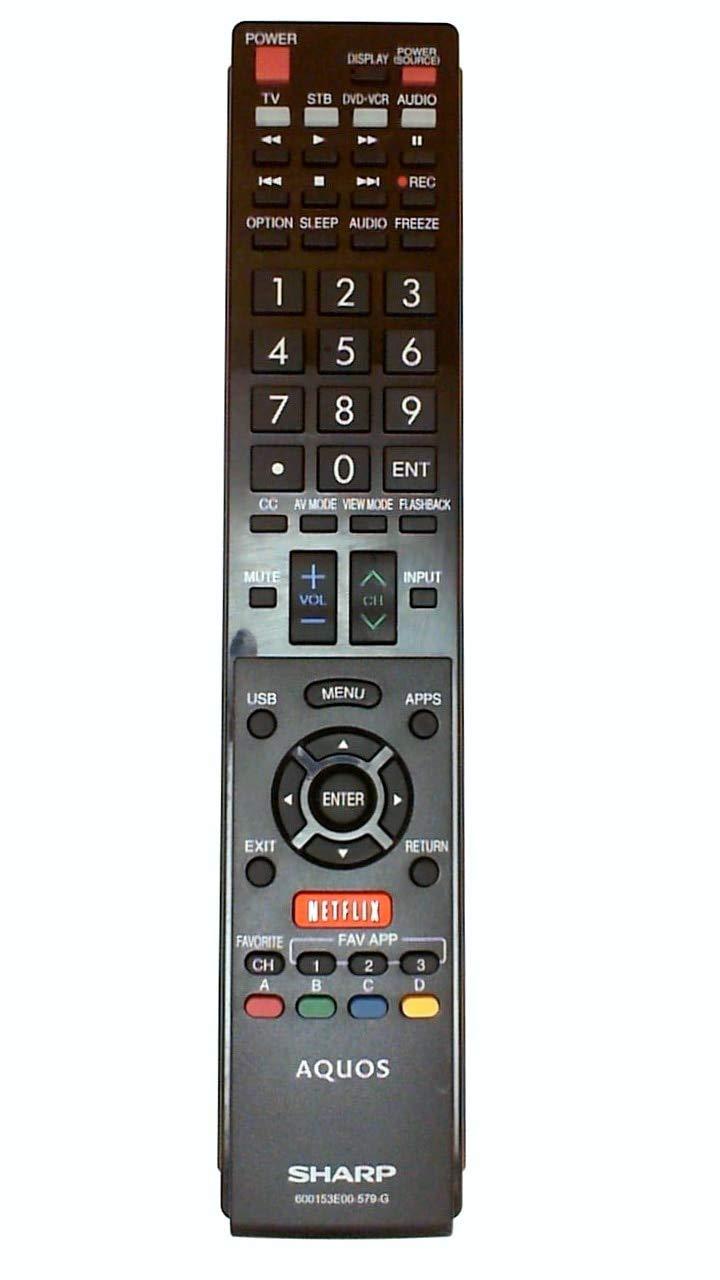 Sharp OEM Original Part: 9JY600153E00579 TV Remote Control