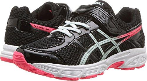 ASICS Girl's, Gel Contend 4 GS Running Sneakers 5-Black Blue-Blank 3 M
