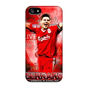 Fashion Protective The Football Player Of Liverpool Steven Gerrard Cases Covers For Iphone 5/5s