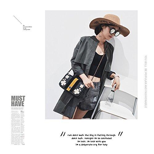 Retro Crossbody Bolsos Elegante Chain Bag Envelope Cuero Yoome Adolescentes Emroidery Para Mujeres Flap Pgxqvtn