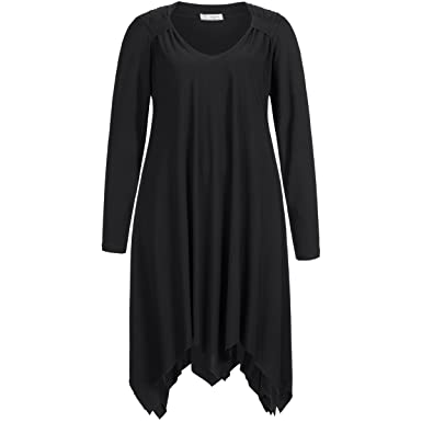 Bezaubernd feminine Tunika A-linie long schwarz Größe 40 / 42