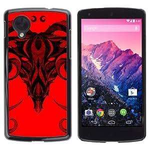 YOYOSHOP [Cool Skull Illustration] LG Google Nexus 5 Case