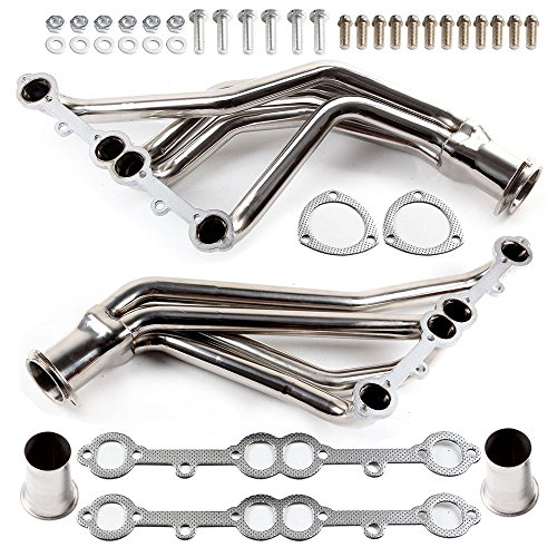 (Exhaust Manifolds ECCPP Automotive Replacement Engine Racing Stainless Long Tube SS Header Manifold Exhaust Gaskets for 1984-1991 CHEVRY 5.0L 5.7L)