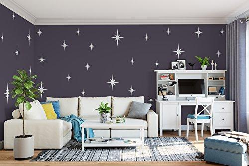 Retro Starbursts Vinyl Wall Decals, Confetti Stars ABST8 - Nursery Decor - Sparkle Star Decals