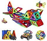 Magnetic Blocks Building Set, Magnetic Tiles Educational Toys for Boys/Girls (93Pcs)