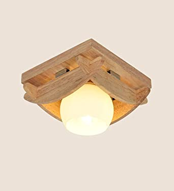 LED lámpara de techo de madera maciza comunidades dormitorio ...