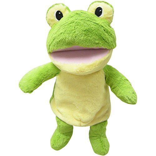 Puppet Frog Hand (Spark, Create, Imagine Singing Puppets - FROG - Soft and Cuddly, Move Their Mouths and They Sing)