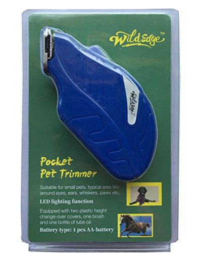 Wild Edge Dog Trimmer, Cat Trimmer, Horse Trimmer, Small Animals Pocket Grooming Trimmer Kit by Wild Edge