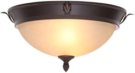 Hampton Bay 2 Light Oil Rubbed Bronze Ceiling Flushmount Amazon Com
