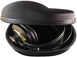 Sturdy Hard Shell Headphone Carrying Case, Headset Storage for Travel | Impact Protection for AKG, Audio Technica, Sony, Sennheiser, Turtle Beach & More | Black Ballistic Nylon, XL – Extra Large