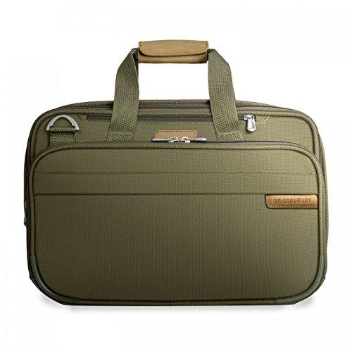 Briggs & Riley Baseline Expandable Cabin Bag, Olive, Medium -