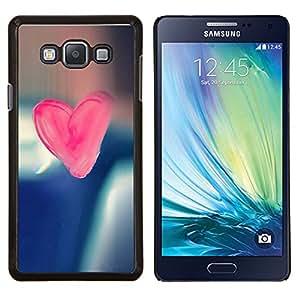 LECELL--Funda protectora / Cubierta / Piel For Samsung Galaxy A7 A7000 -- Corazón del rosa del caramelo --