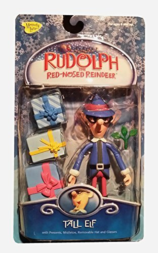 Rudolph the Red-Nosed Reindeer Holiday Action Figure - Tall Elf with Presents (Rudolph The Red Nosed Reindeer Elf Name)