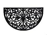 Iron Gate - Half Round Scroll Damask Doormat - Mat 18