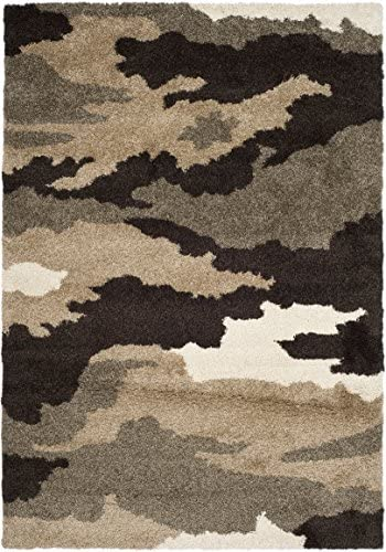 Safavieh Camouflage Shag Collection SG453-1391 Beige and Multi Area Rug 8 x 10