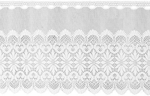 Arsvita bistrogordijn Jacquard in wit 160x60cm BxL met stangdoorgang 160 x 60 cm Ida
