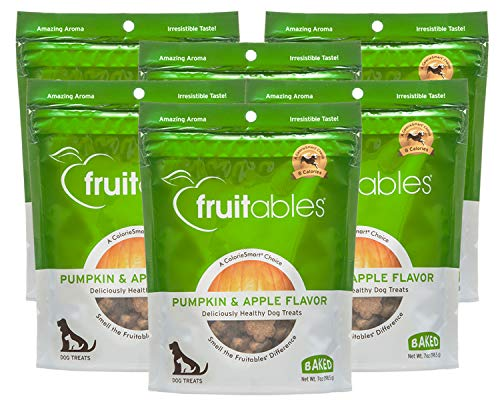 Fruitables Baked Dog Treats Pumpkin and Apple 7 Ounce - Pack of 6